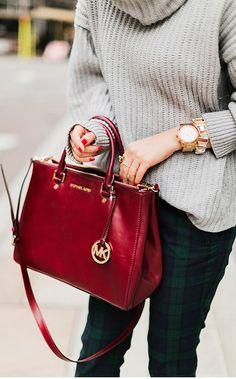 Beautiful Cognac M. Kors Bag