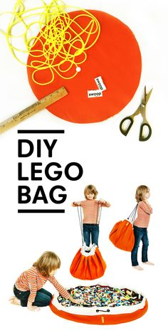 DIY Lego Storage Bag : If you are one interested in sewing your own Swoop Bag, here are some tutorials for you! We hear that the bag always looks easy to sew, but when it it all said and done, it is a labor of love. Sac Lego Diy, Lego Bag, Toy Storage Bags, Lego Storage, Storage Ideas, Purse Storage, Lego For Kids, Sewing For Kids, Sewing Toys