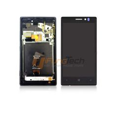 100% Original Replacement For Nokia Lumia 925 LCD Display Touch Screen Digitizer Assembly with Frame Free Shipping
