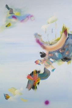 Justyna Pennards-Sycz, Physalia Physalis learning to fly, # 4, mixed media on canvas, 120 x 80, 2013