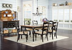picture of Cindy Crawford Home Heatherwoods Chocolate 5 Pc Leg Dining Room  from Dining Room Sets Furniture