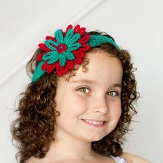 Crochet Headband & Flower Pattern via My Favourite Things