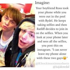 e-rat and ross taking selifie