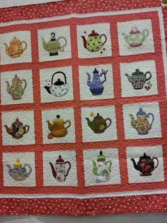 Teapots quilt