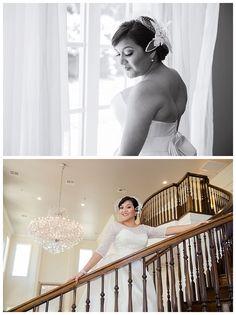 Bride alone at Milestone Krum Wedding by brittanybarclay.com