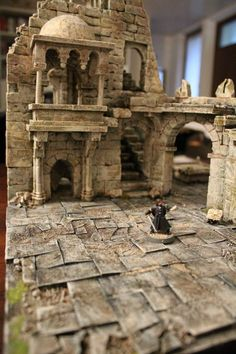 Castle diorama Stone wargame basis ruin