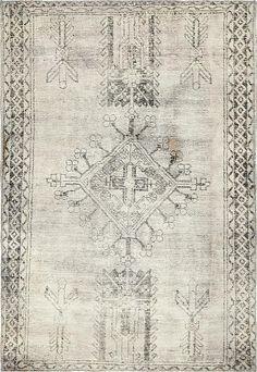 Gray 3' 9 x 5' 6 Ultra Vintage Persian Rug | Persian Rugs | eSaleRugs