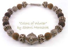OOAK Handmade Beaded Bead Necklace  Colors