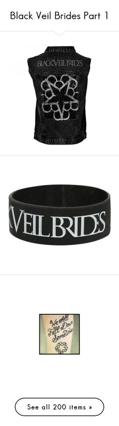 """""""Black Veil Brides Part 1"""" by divona-and-friends ❤ liked on Polyvore featuring black veil brides, tops, jackets, bands, jewelry, bracelets, rubber bracelet, bracelet bangle, black jewelry and black bridal jewelry"""