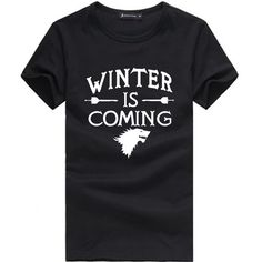 Solid Men T Shirt Stark Game of Thrones Winter is Coming The North Will Never Forget Top Tees Men T-shirts  //Price: $US $9.99 & FREE Shipping //     #gameofthronesmarathon #gameofthronestour #jonsnow #starks #sansastark #gameofthronesaddict