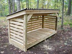 permanent wood storage roof   Plans To Build A Firewood Storage Shed shed roof pole barn plans