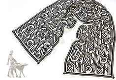 Art Deco Scarf and Brooch, available at the Online Shop English Heritage, Noble Knight, Art Deco Jewelry, Valentine Gifts, Quilt Bag, Textiles, Embroidery, Quilts, Art Deco