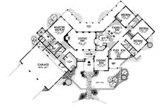 Home Plans - Square Feet, 4 Bedroom 3 Bathroom Spanish Home with 3 Garage Bays Spanish Style Homes, Spanish House, Stucco Walls, Modern Ranch, Hacienda Style, Red Roof, Tropical Houses, Hallway Decorating, Southwestern Style