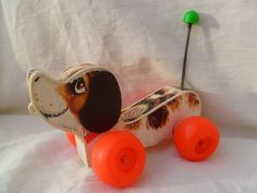 Fisher Price Little Snoopy Vintage Pull Toy 1965 - Even though I was born in the 80's I had one of these