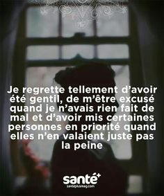 Tu regrette hier mais espère toujours un meilleur demain - Best Pins Live Best Quotes, Life Quotes, French Quotes, Bad Mood, Positive Attitude, Beautiful Words, Decir No, Quotations, Affirmations