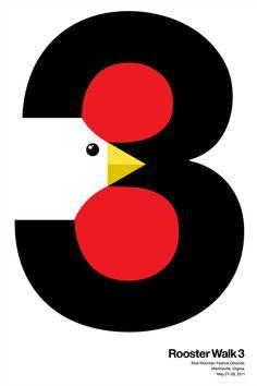 Rooster Walk 3 – Graphic Artwork by Selman Design
