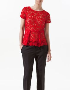 LACE TOP WITH FRILL