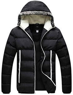 693439c32a Men s Winter Thickened Puffer Jacket Hooded Cotton Quilted Coat Outerwear   gt  gt  gt