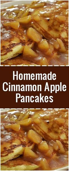 Apple Topping Recipe, Apple Pancake Recipe, Pancake Recipes, Apple Recipes, Bread Recipes, Homemade Pancakes, Pancakes Easy, Apple Breakfast, Breakfast Recipes