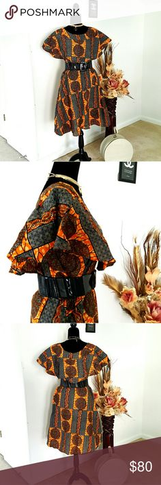 African print dress Very beautiful when you put it on. Dresses