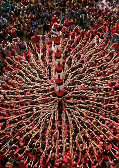A gallery of spectacular photos taken at the Tarragona Castells, or Human Towers, Competition.