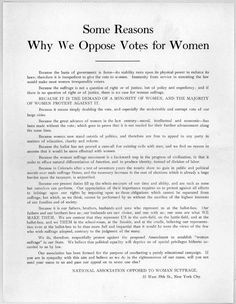 womans vote essay Today is women's equality day, a day commemorating the certification of the  19th amendment, which granted us women the right to vote.