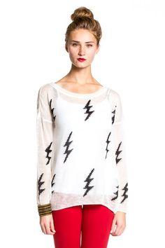 7376aa52526 Dakota Collective Blaine Sweater in White  sweater  white  print Portland