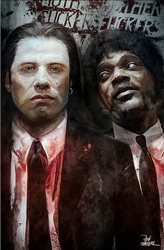 "John Travolta and Samuel L. Jackson from ""Pulp Fiction"""