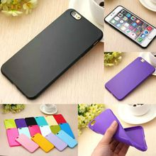 1pcs Flexible items! Slim Silicon Gel Soft Case for Apple iphone 6 Plus 5.5 / i6 5.5 Candy Phone Back Cover for iphone6 Plus(China (Mainland))