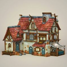 Buy Game Ready Fantasy House by Gamingarts on Here is the game ready fantasy Model of sweet house. Model has perfect edge loop based topology. All Materials and. House 3d Model, Fantasy House, Architecture Board, Games To Buy, 3d Projects, 3d Animation, Design Inspiration, Design Ideas, Scenery