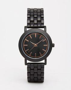 Bild 1 von ASOS – All Black – Boyfriend-Uhr