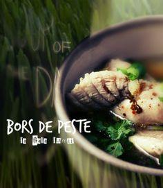 Bors de peste (Sour fish soup) Romanian Recipes, Romanian Food, Supe, International Recipes, Soups And Stews, Vegetarian Recipes, Recipies, Beans, Dishes