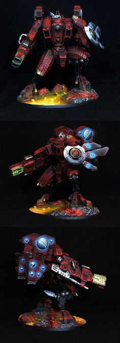 Warhammer 40k Tau Riptide - incredible subdued lighting on this one