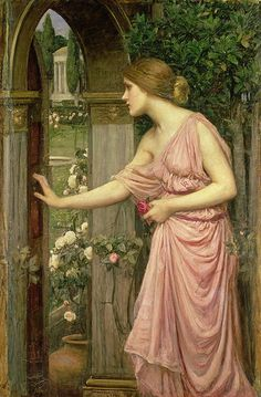 Psyche entering cupid's garden John William Waterhouse