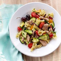 Get the recipe for Rustic Pasta Toss with Tuna and Tomatoes
