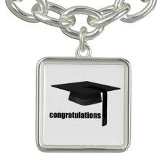 Graduation Cap Charm Bracelet