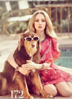 Check Out Amanda Seyfried's Super Cool Dog Have you ever seen a COOLER DOG?! I'm buggin over this cool dog right now.