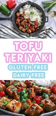 My Gluten Free Teriyaki Tofu Recipe (vegan + low FODMAP) - Food and Diet ideas - Dinner Fodmap Recipes, Veg Recipes, Healthy Dinner Recipes, Vegetarian Recipes, Healthy Dinners, Vegan Dinners, Potato Recipes, Recipies, Sin Gluten