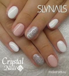 Amazing glitter nail art designs that you can own 04 Schellackn ร . - Amazing glitter nail art designs that you can own 04 Schellackn gel – own - White Nail Designs, Gel Nail Designs, Nails Design, Short Nail Designs, Nail Design For Short Nails, Classy Nail Designs, Pedicure Designs, Simple Nail Art Designs, Colorful Nail Designs