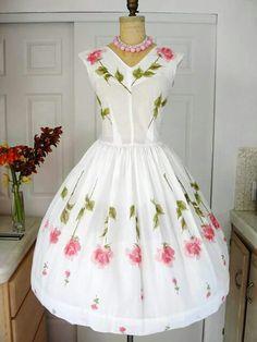 1950 Novelty Print Dress