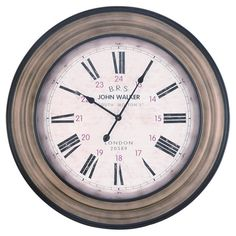 distressed metal wall clock with openwork frame cottage ideas wall clock kitchen clocks