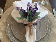 Katherinne Ribeiro: Como Fazer porta guardanapos em lavanda