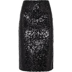 By Malene Birger Poliio sequined satin-jersey pencil skirt (€415) ❤ liked on Polyvore featuring skirts, bottoms, stretchy pencil skirt, knee length pencil skirt, black sequin skirt, stretchy skirt and black stretchy skirt