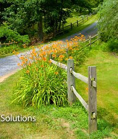 split rail landscape on Pinterest | Split Rail Fence, Fencing and ...