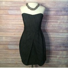 ⭐️ charcoal Jean strapless dress 🎉 HOST PICK🎉 Black Jean like look, super cute tube top dress!  70% cotton, 27% polyester and 3% spandex! Lining is 100% polyester. Zip in the back with stretch around upper back. Padded front! Size 5 but fits like a 2! Trixxi Dresses Strapless