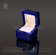 (54.00$)  Buy here  - New Marriage Proposal Ring Box With Light Blue Piano Lacquer Wood Box Romantic Packing Gift Box 143 Size 6*6*58 cm A020