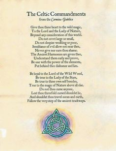Celtic Commandments