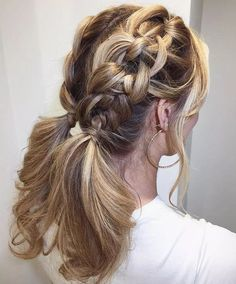 If you are trying to find a cool braided hairstyle on the Internet? Then definitely you are on right way here. This double braided Knotted hairstyles is perfectly on trend now. If you have medium to long hairstyles then this easy hair can be done on your hair. This is so great because it takes only a minute to do.