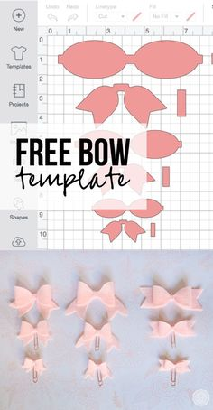Easy DIY Felt Bows with your Cricut - Happily Ever After, Etc. Tinkerbell Party Theme, Bow Template, Felt Bows, Project Free, Cricut Tutorials, Diy Hair Bows, Cricut Creations, Felt Diy, Recycled Crafts