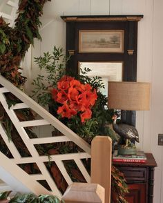 Chippendale staircase Stairways, Vignettes, Ladder Decor, Farmer, Light Fixtures, Bloom, Photo And Video, Instagram Posts, Beautiful